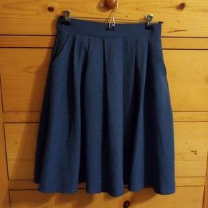 Dresses & Skirts - Pleated Blue Knee High Skirt